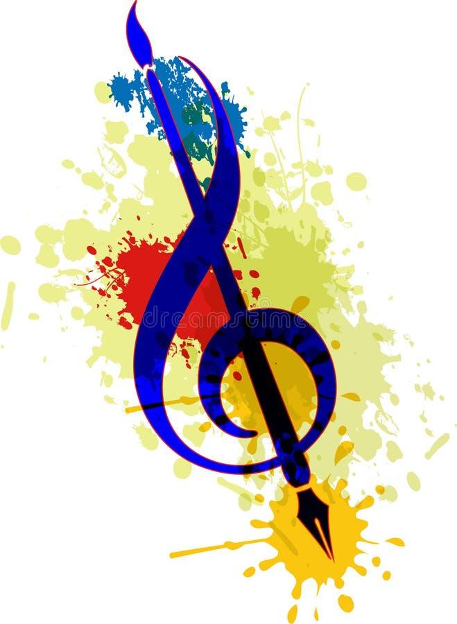 Sztuki muzyka i muśnięcie royalty ilustracja