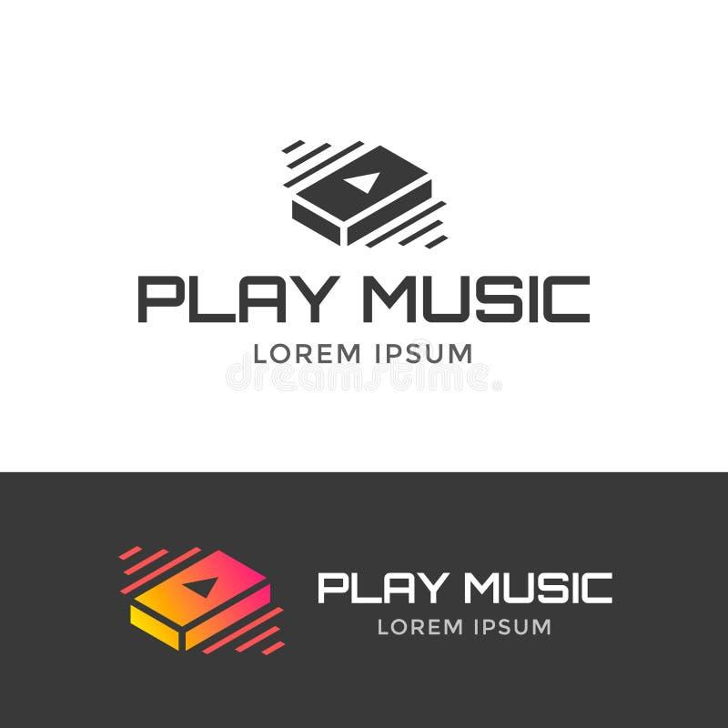 Sztuki muzyki logo ilustracji