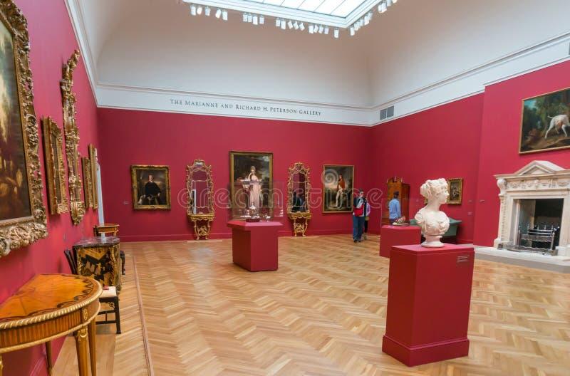 Sztuki Piękna na pokazie wśrodku De Potomstwo Muzeum w San Fransisco obrazy royalty free