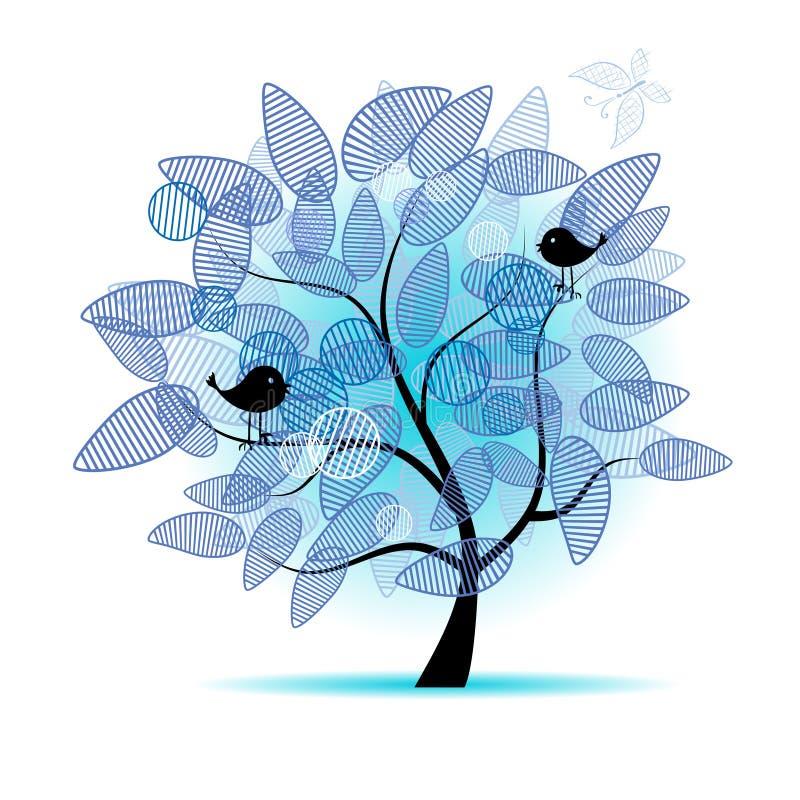 sztuki piękny projekta drzewo twój ilustracja wektor