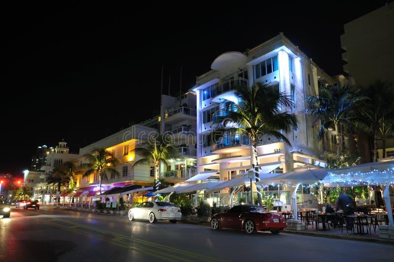 sztuki plażowy deco okręg Miami obraz stock