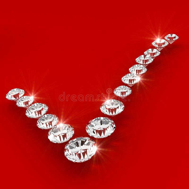 sztuki poprawny diamentowy ilustracyjny kształta znak royalty ilustracja