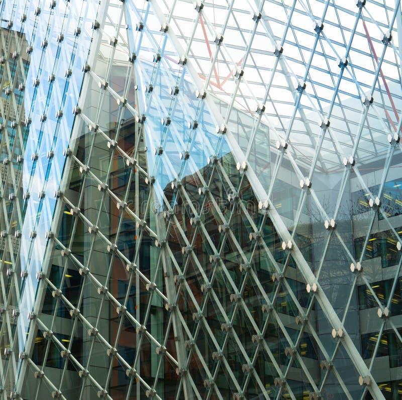 Sztuki powierzchowność nowożytny szklany centrum biznesu zdjęcia royalty free
