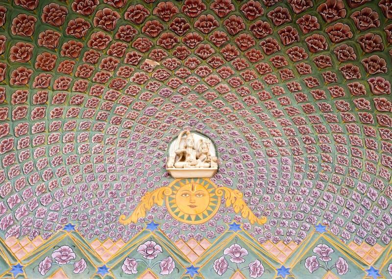 Sztuki praca przy Jaipur Miasta Pałac obrazy stock