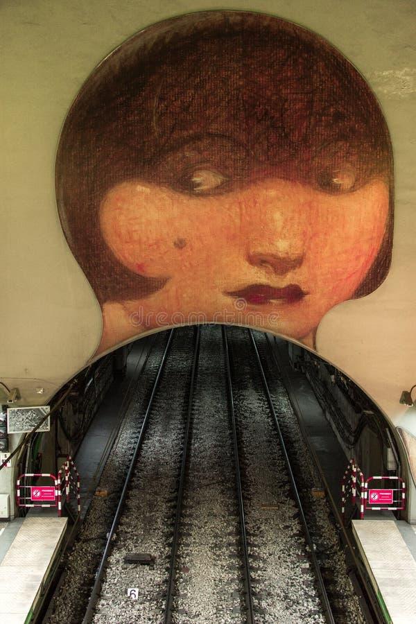 Sztuki praca w Wenezuela stacji metrej w H linii, Buenos Aires Argentyna obrazy royalty free