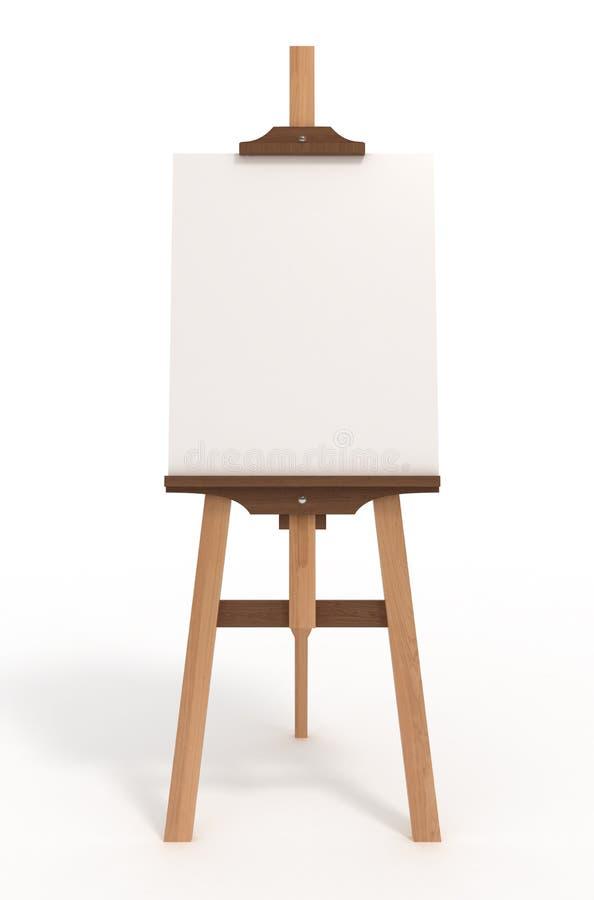 sztuki pustego miejsca deski ścinku sztalugi ścieżka ilustracji