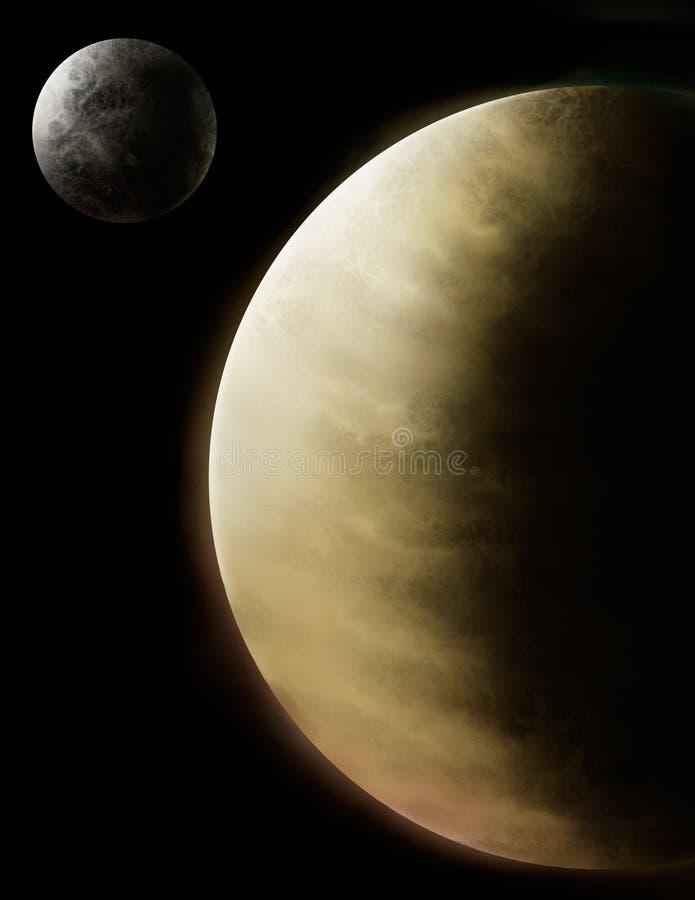 sztuki rtęć cyfrowa ilustracyjna planetuje venus ilustracja wektor