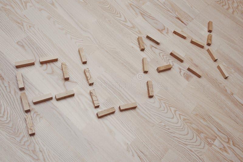 Sztuki słowo w rocznika drewnie zdjęcie royalty free