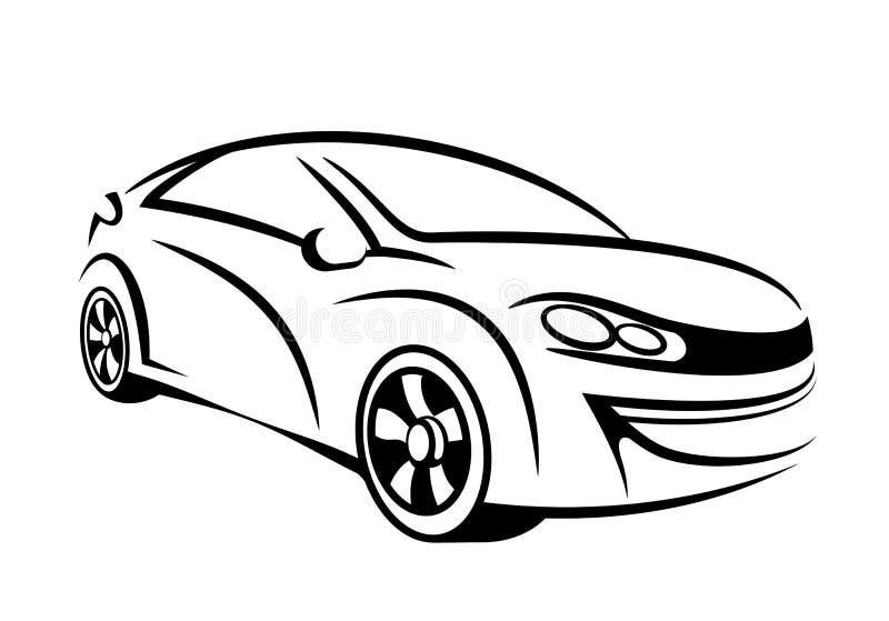 sztuki samochodu linia ilustracji