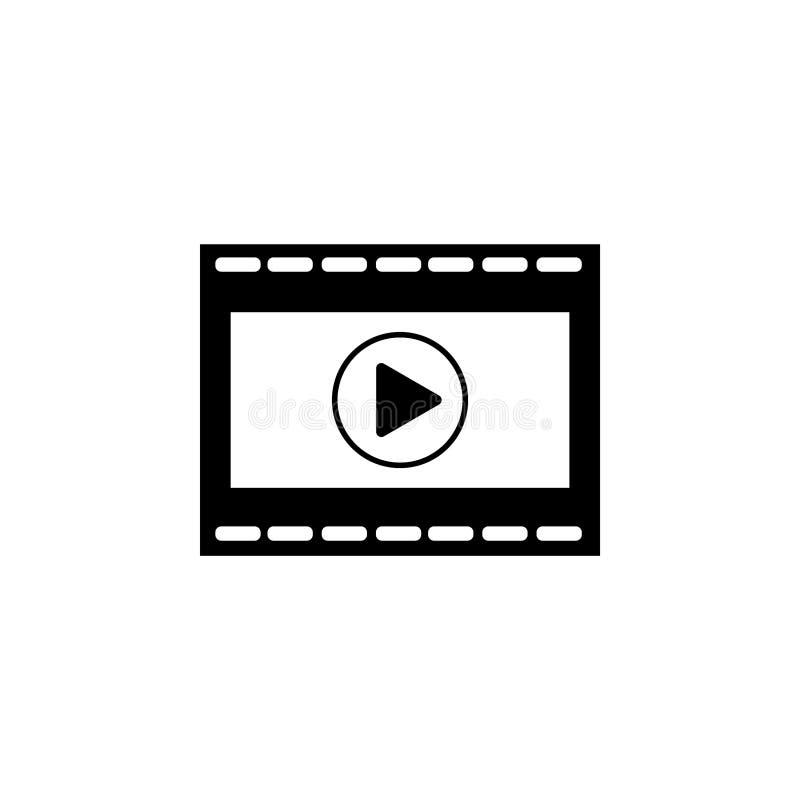 Sztuki wideo wektorowa ikona royalty ilustracja