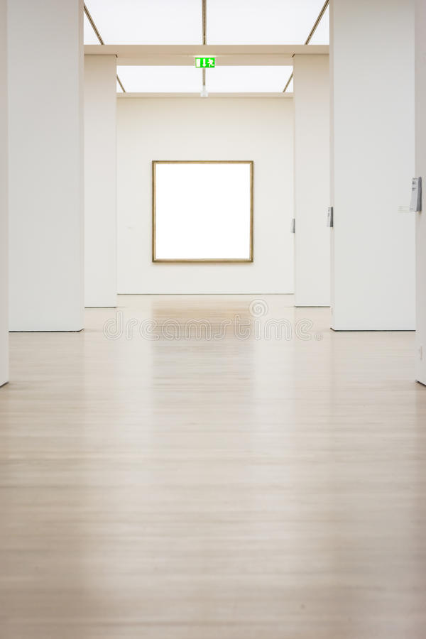 Sztuki Współczesnej muzeum ramy ściany ścinku ścieżki Odosobniony Biały wektor obraz royalty free