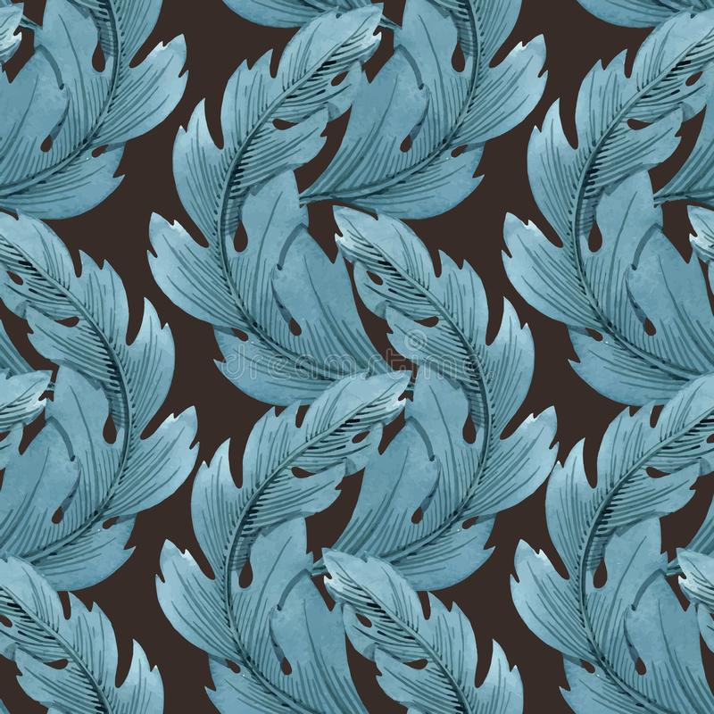 Sztuki Współczesnej Nouveau Tiffany wektoru wzór royalty ilustracja