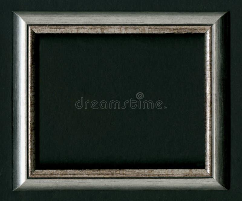 Sztuki wystawy pojęcie czarna ramowej zdjęcie Stawia twój swój obrazek inside Na czarnym tle zdjęcia stock