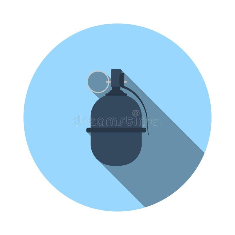 Szturmowa granat ikona ilustracji