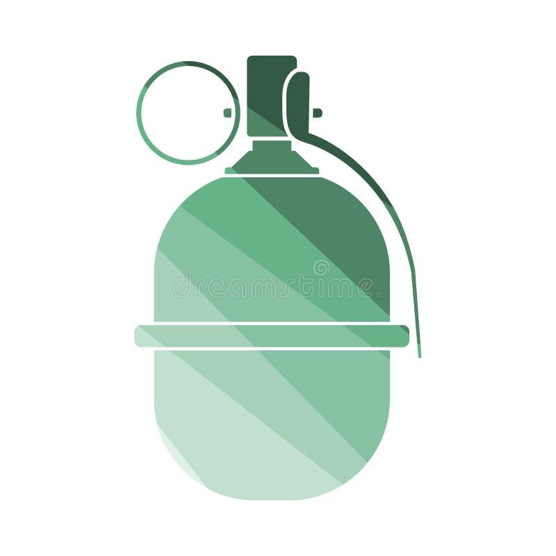 Szturmowa granat ikona ilustracja wektor