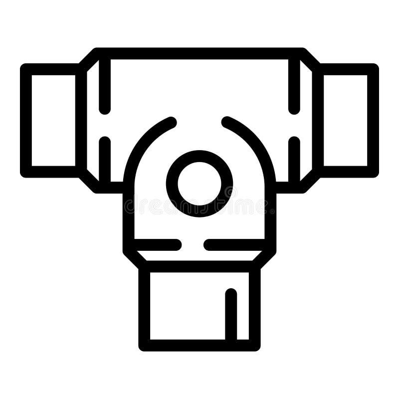 Sztywno kahat ikona, konturu styl ilustracja wektor