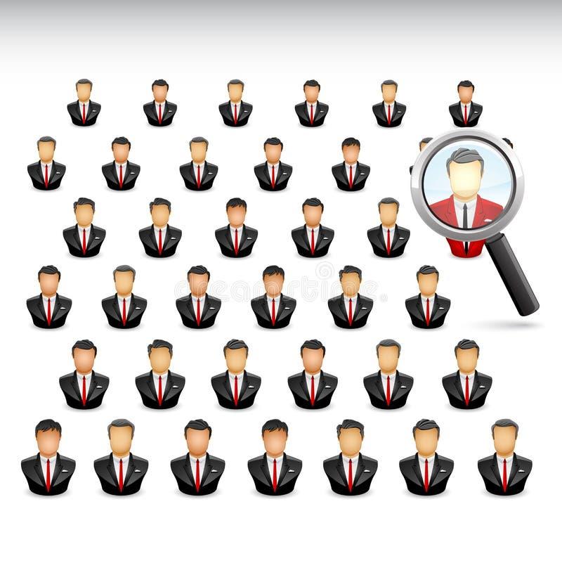 Szukać best najlepszy biznesmen royalty ilustracja