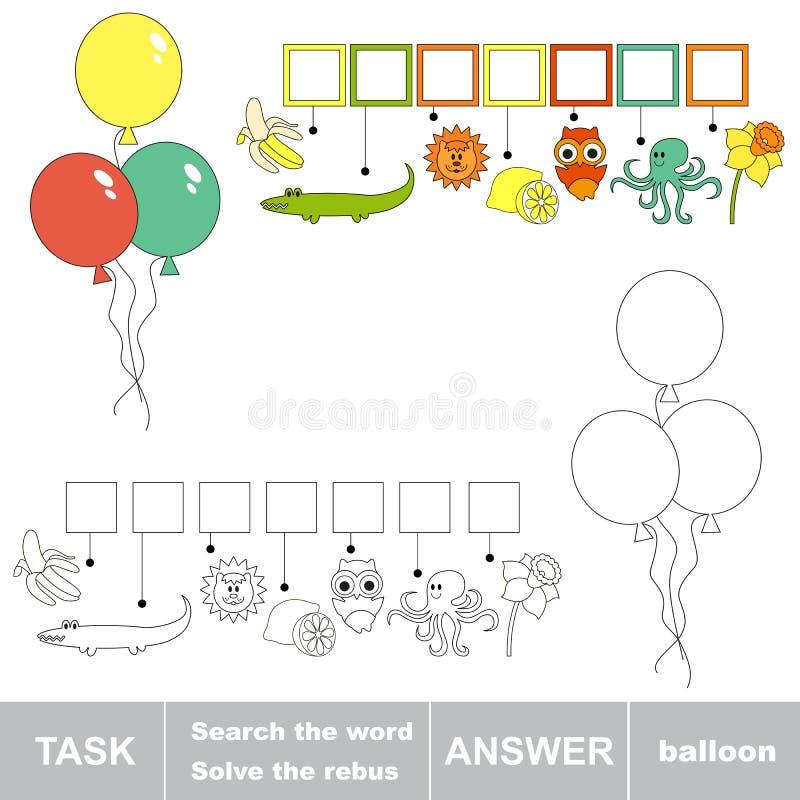 Szuka słowo balon ilustracji
