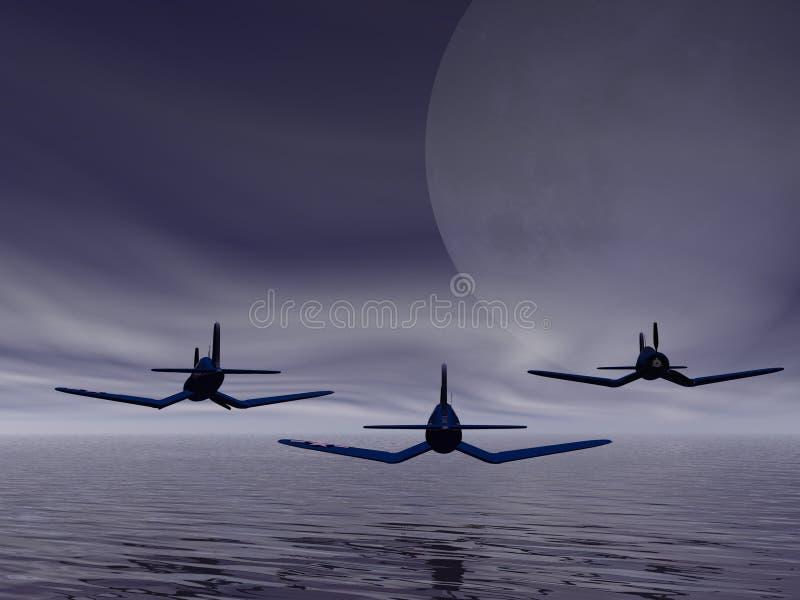 szwadron latająca dolna ilustracja wektor