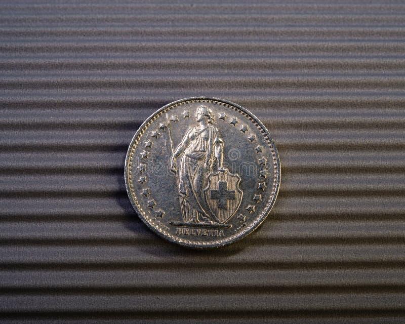 Szwajcar moneta jest dwa frankami fotografia royalty free