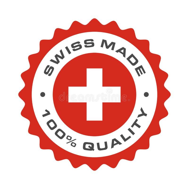 Szwajcar robić ilości Szwajcaria wektoru flaga foka ilustracji