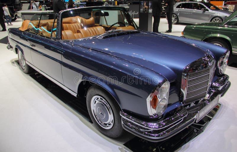 Szwajcaria; Genewa; Marzec 9, 2019; Brabus klasyk, Mercedes-Benz 280 SE 3 5 kabriolet; 89th Mi?dzynarodowy Motorowy przedstawieni obrazy royalty free