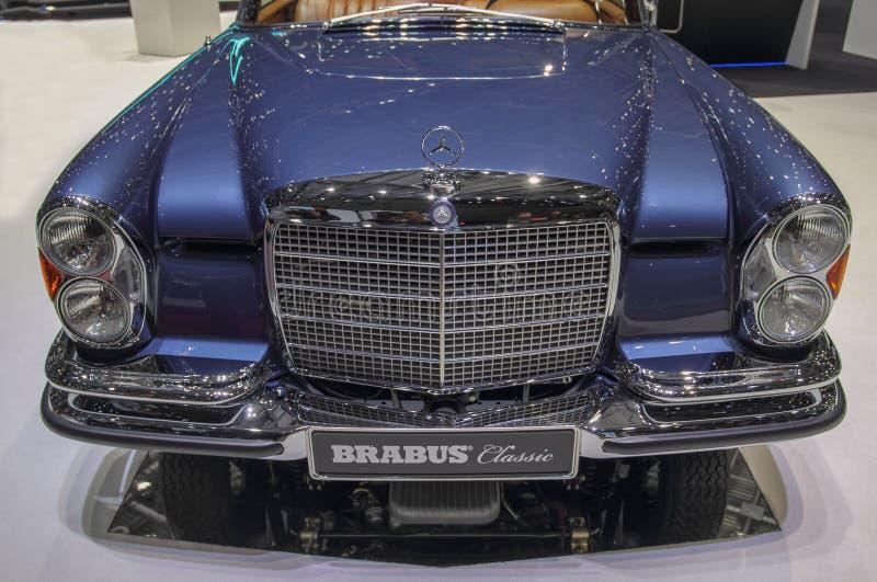 Szwajcaria; Genewa; Marzec 9, 2019; Brabus klasyk, Mercedes-Benz 280 SE 3 5 kabriolet; 89th Mi?dzynarodowy Motorowy przedstawieni zdjęcie royalty free
