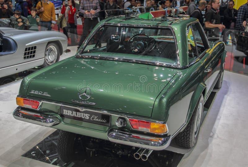 Szwajcaria; Genewa; Marzec 9, 2019; Brabus klasyk, Mercedes-Benz 280 SL pagoda; 89th Mi?dzynarodowy Motorowy przedstawienie w Gen zdjęcie stock