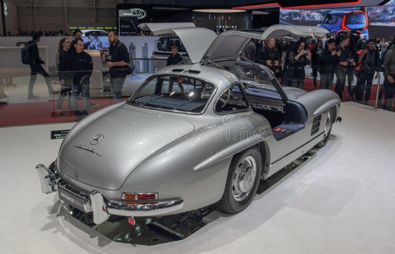 Szwajcaria; Genewa; Marzec 9, 2019; Brabus klasyk, Mercedes-Benz 300 SL; 89th Międzynarodowy Motorowy przedstawienie w Genewa od  fotografia royalty free