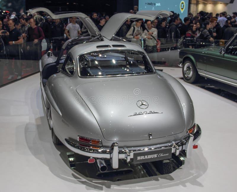 Szwajcaria; Genewa; Marzec 9, 2019; Brabus klasyk, Mercedes-Benz 300 SL; 89th Mi?dzynarodowy Motorowy przedstawienie w Genewa od  zdjęcia stock