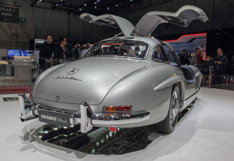Szwajcaria; Genewa; Marzec 9, 2019; Brabus klasyk, Mercedes-Benz 300 SL; 89th Mi?dzynarodowy Motorowy przedstawienie w Genewa od  zdjęcie stock