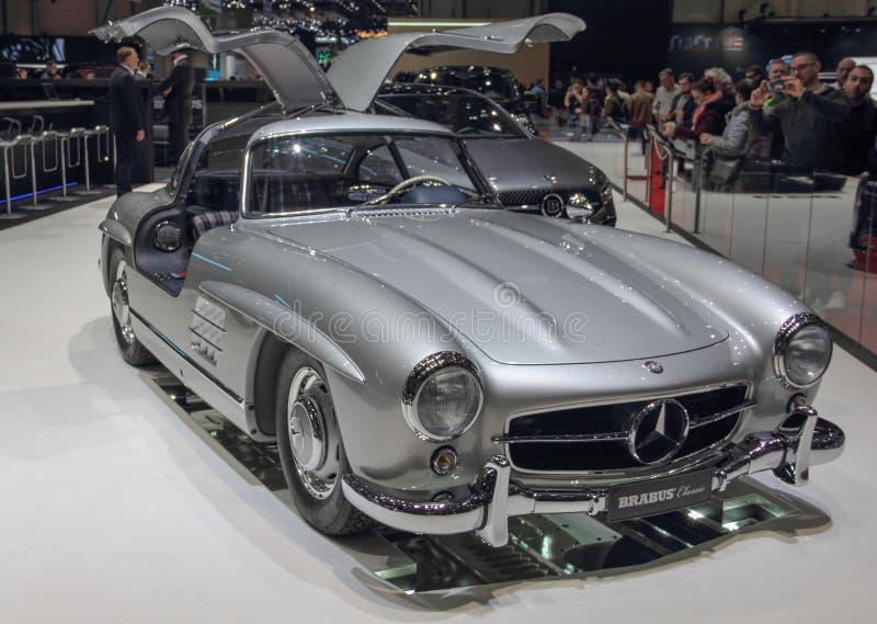 Szwajcaria; Genewa; Marzec 9, 2019; Brabus klasyk, Mercedes-Benz 300 SL; 89th Mi?dzynarodowy Motorowy przedstawienie w Genewa od  fotografia royalty free