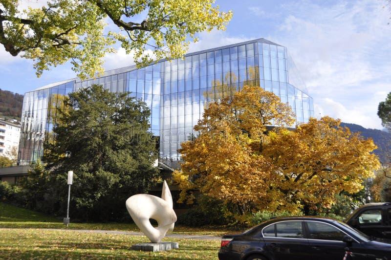 Szwajcaria: kongresu centrum, dokąd jądrowy rozmowy betwe obrazy stock