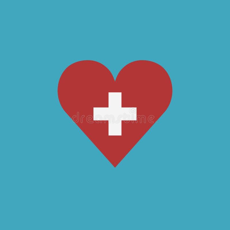 Szwajcaria zaznacza ikonę w kierowym kształcie w płaskim projekcie royalty ilustracja