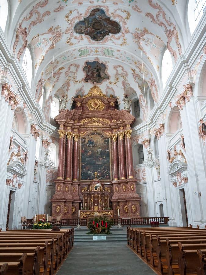 Szwajcaria Zimnej zimy Śnieżna katedra zdjęcie royalty free