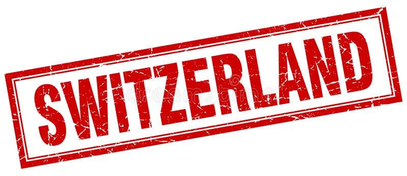 Szwajcaria znaczek ilustracji