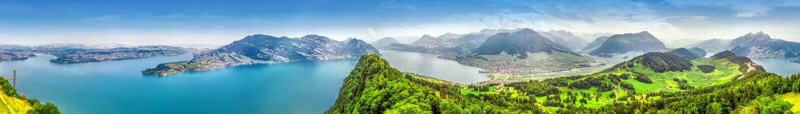 Szwajcarscy Alps blisko Burgenstock z widokiem Lucerna jezioro, Szwajcaria, Europa obrazy royalty free