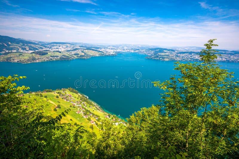 Szwajcarscy Alps blisko Burgenstock z widokiem Lucerna jezioro, Szwajcaria, Europa zdjęcia royalty free