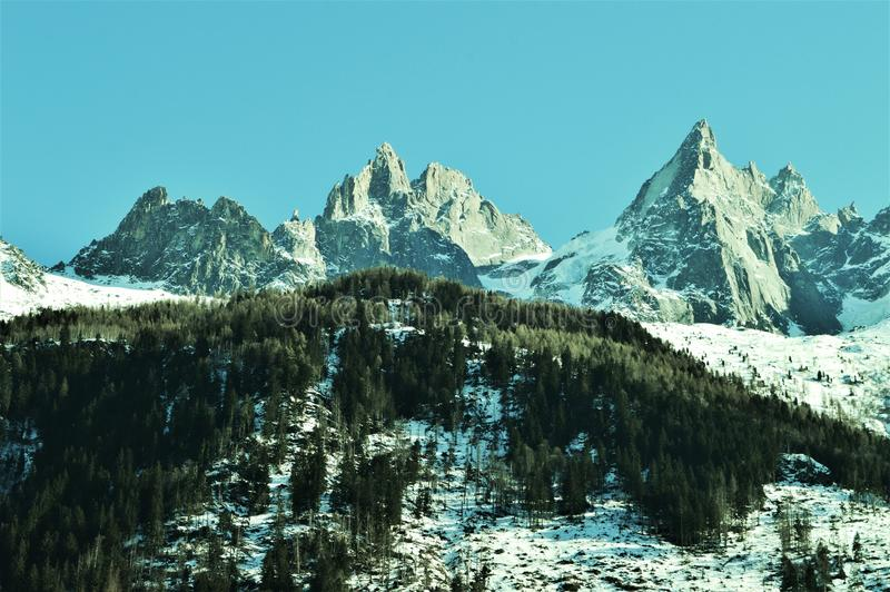 Szwajcarscy Alps w zimie obrazy royalty free