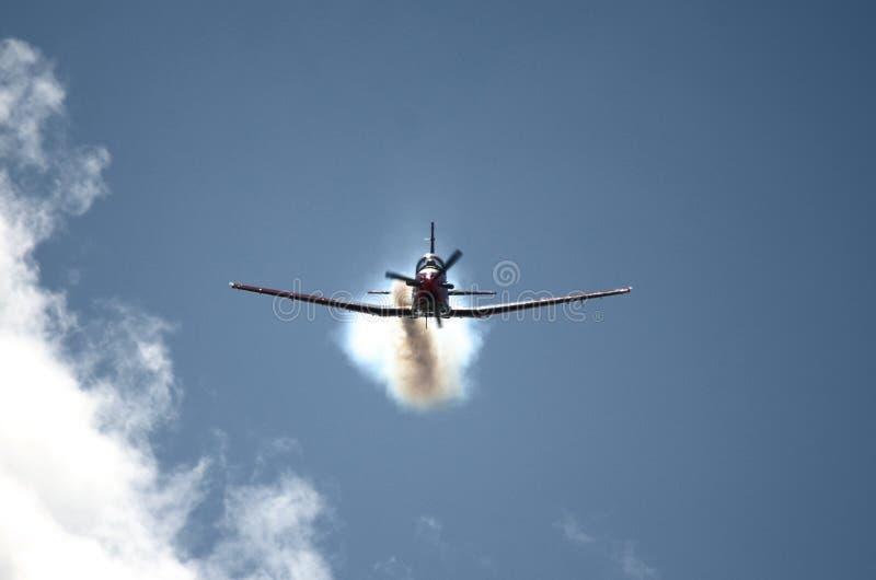 Szwajcarska siły powietrzne - PC7 Akrobatyczna drużyna obrazy stock