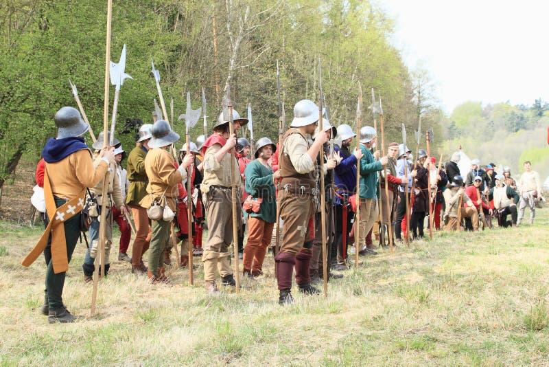 Szwajcarski średniowieczny wojsko zdjęcie royalty free