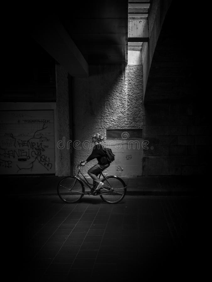 Szwajcarski cyklista obraz royalty free