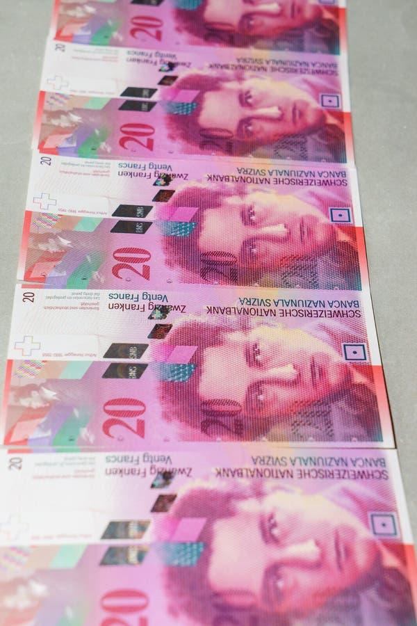 Szwajcarski frank obraz royalty free