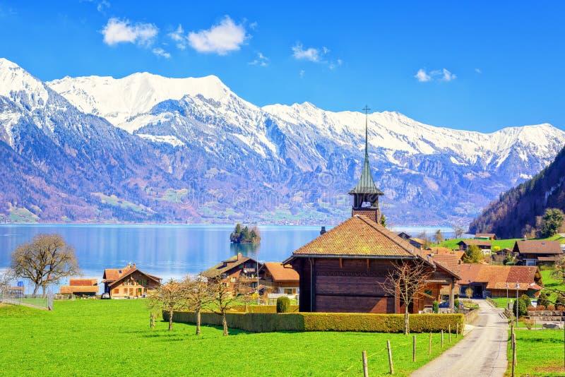 Szwajcarski wysokogórski krajobraz, Szwajcaria zdjęcie stock