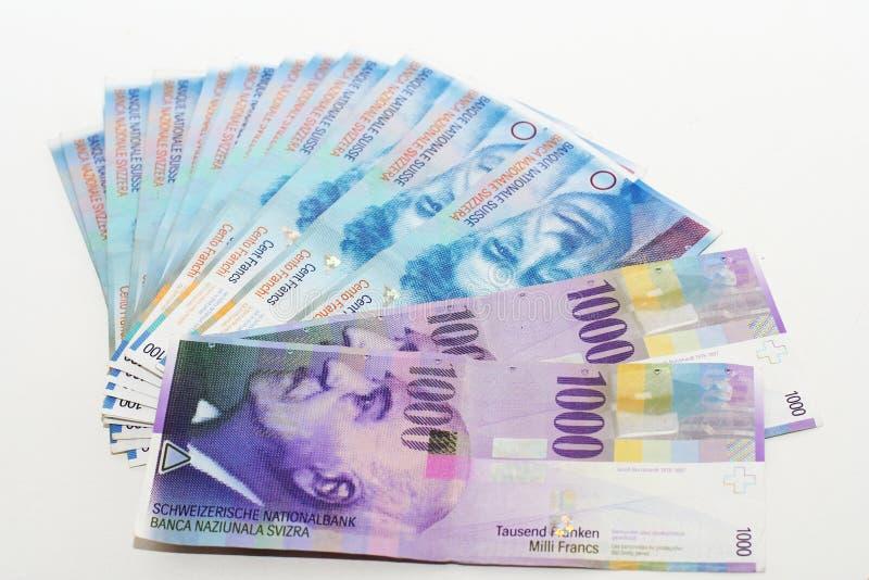 szwajcarzy pieniądze obraz royalty free