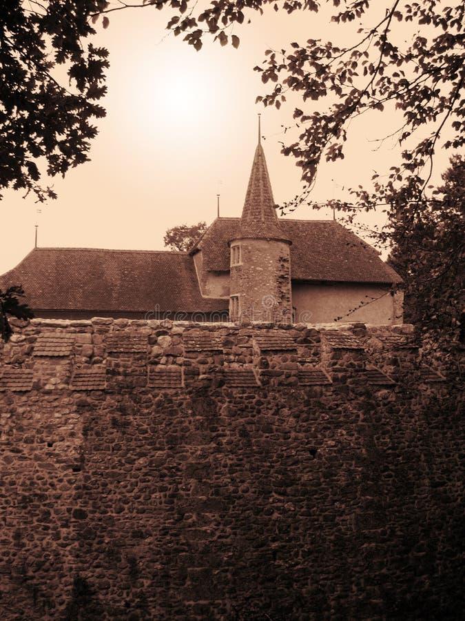 szwajcarzy zamek średniowieczny obrazy royalty free