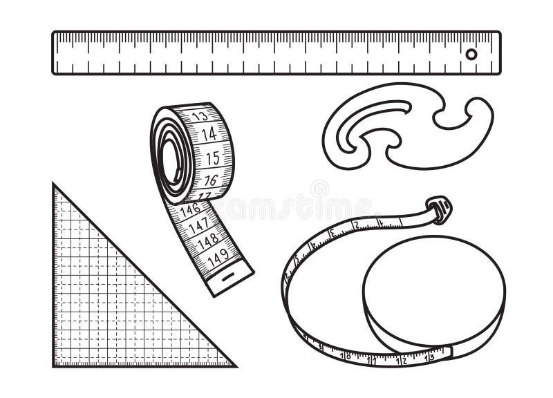 Szwalna miara narzędzie ilustracji