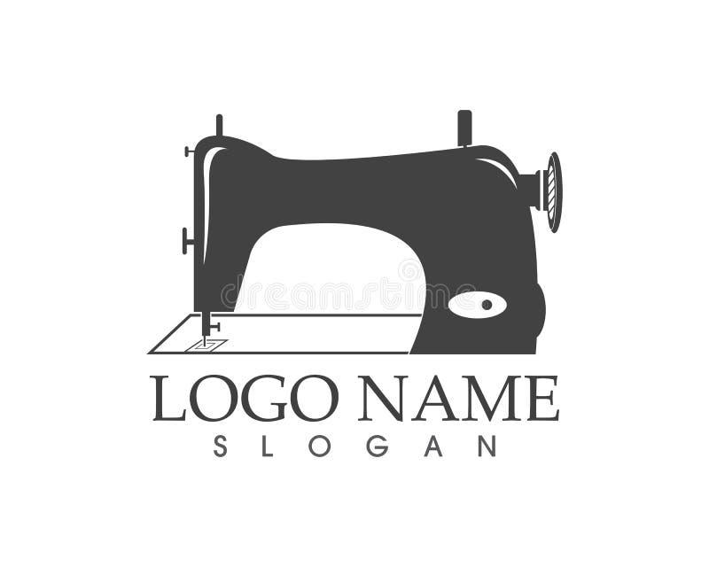 Szwalnej maszyny ikony loga wektoru szablon royalty ilustracja