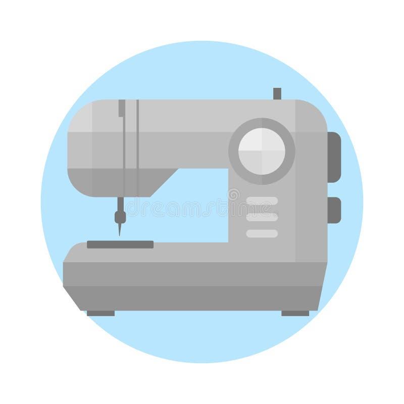 Szwalnej maszyny rocznika wyposażenia projekta starego narzędzia i nicianego rzemiosła mody ściegu manufaktury igielni ubrania ha ilustracji