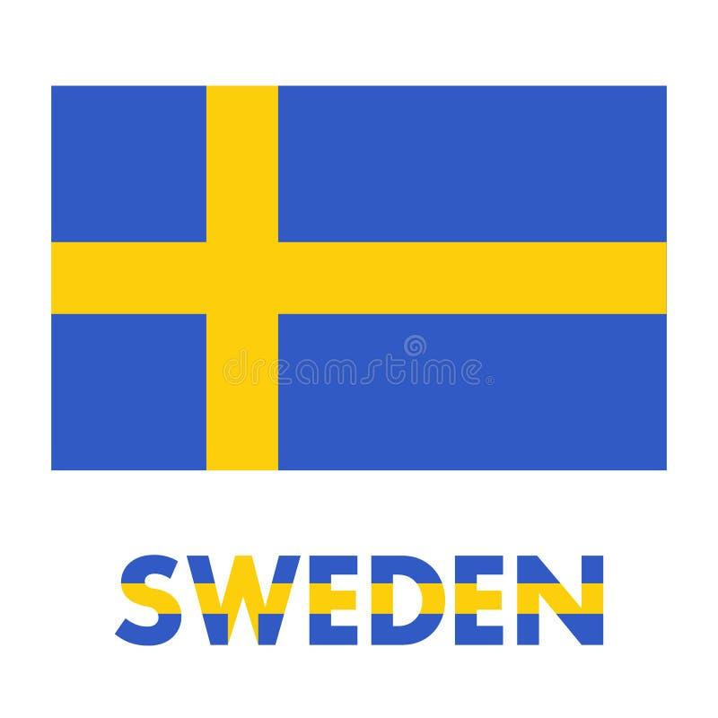 Szwecja flaga nad bielem royalty ilustracja